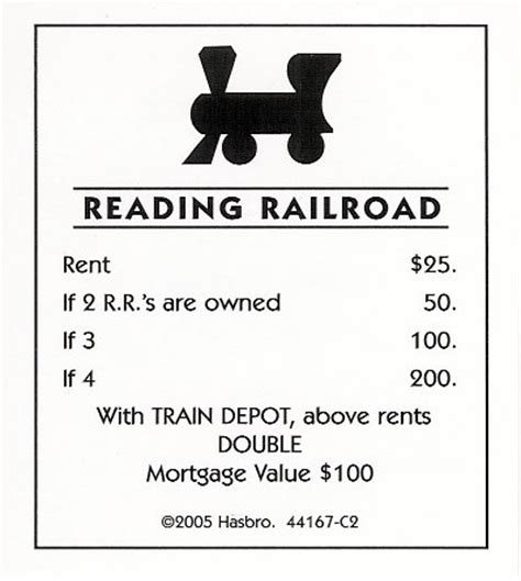 monopoly railroad card template monopoly the mega edition image boardgamegeek