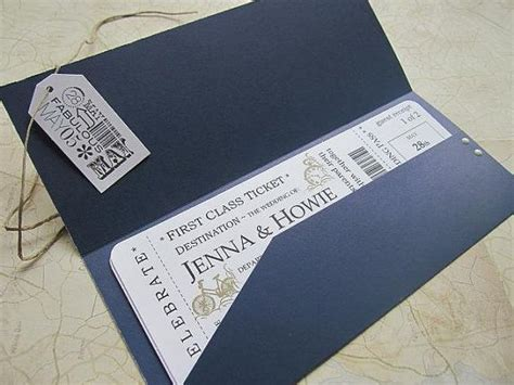 17 best ideas about boarding pass invitation on pinterest