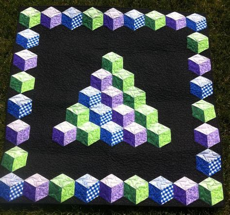 Free Tumbling Blocks Quilt Pattern by Tumbling Blocks Quilt Pattern Another Tumbling Block