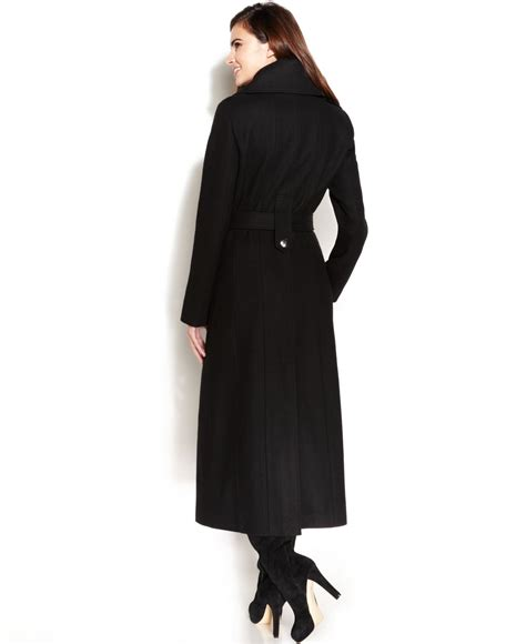Breasted Belted Coat lyst calvin klein wool blend breasted belted maxi