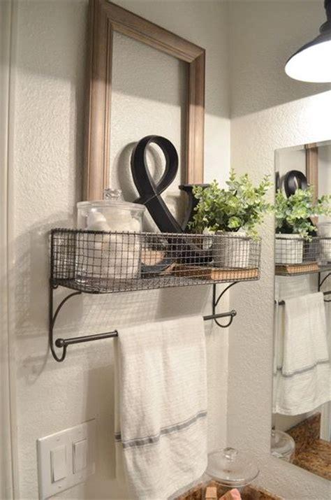 Bathroom Towel Rack Decorating Ideas by Farmhouse Bathroom Organization Bathroom Organization