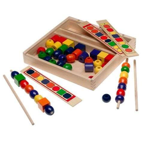 bead toys wood bead sequencing set national autism resources