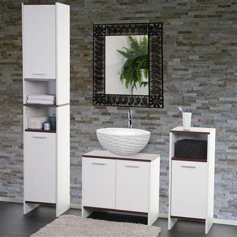 badezimmer set arezzo waschbeckenunterschrank hochschrank