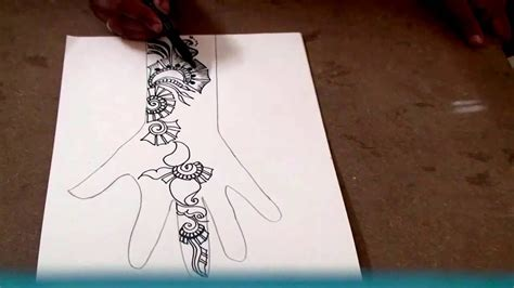 How To Make Design Paper - easy mehndi design 01 on paper how to make henna