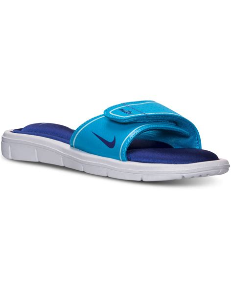 nike slides comfort nike women s comfort slide sandals from finish line in