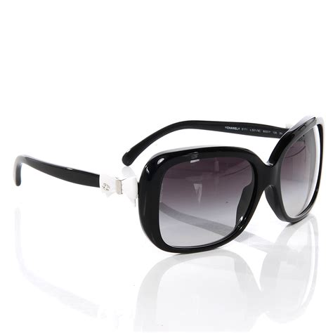 chanel bow sunglasses 5171 black 55032