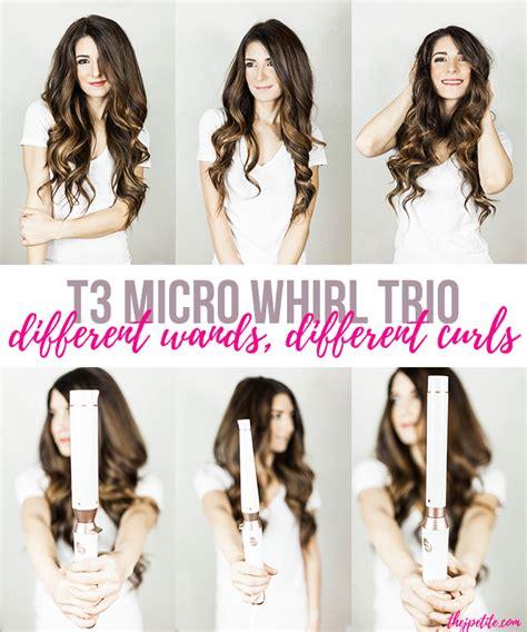 different wands different curls j petite t3 micro whirl trio different wands different