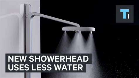 use less water new showerhead uses less water youtube