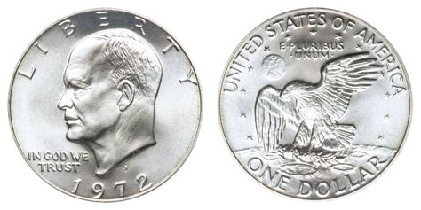 composition of dollar coin 1972 s eisenhower dollars silver clad clad composition