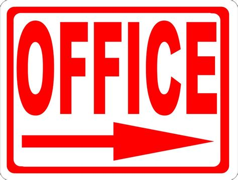 Office Signage by Office Sign With Directional Arrow Signs By Salagraphics