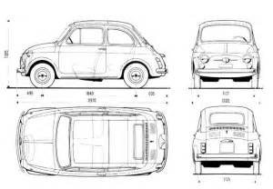 Dimensions Of Fiat 500 Tutorials3d Blueprints Fiat 500