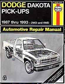 Dodge Dakota Pick Up Automotive Repair Manual Models