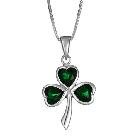 shamrock cz necklace landing company