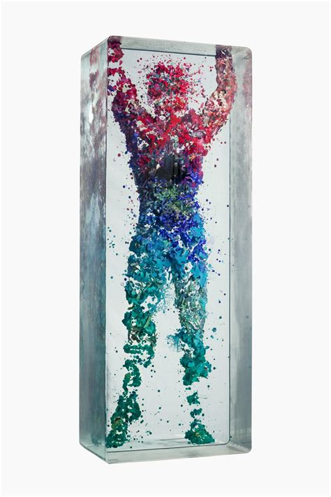 Teh Gelas 1 Dus 3d figurative collages encased in layers of glass by