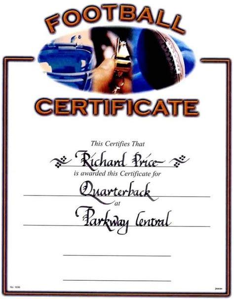 football award certificate template football awards certificates template update234