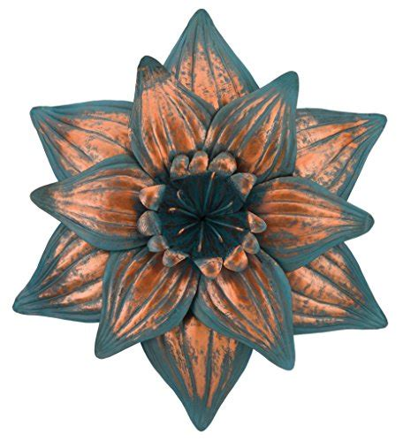 regal art  gift patina flower wall decor dahlia wall