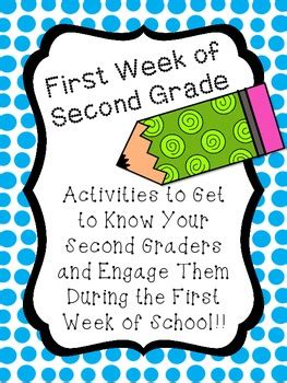 second day of week week of second grade activities to get to