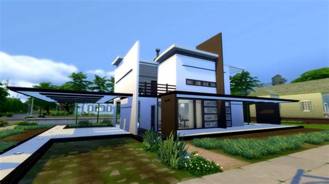 cc for home the sims 4 modern house no cc modegant restyle