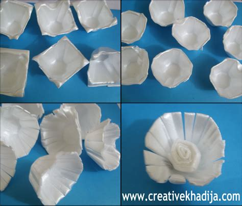 How To Make Egg Trays From Recycled Paper - make egg flowers recycling