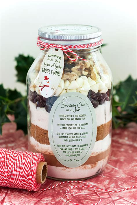 brownie mix in a jar gift favor ideas from evermine