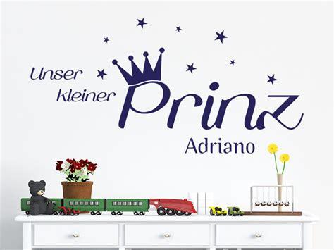 Wandtattoo Kinderzimmer Kleiner Prinz by Wandtattoo Unser Kleiner Prinz Mit Wunschname Klebeheld De