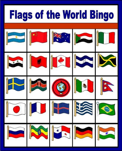 printable flags of the world free flags of the world bingo free printable only enough for