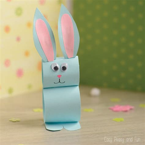 Paper Easter Crafts - paper bunny craft easy easter craft for easy