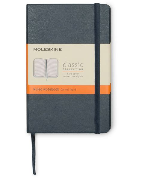 Moleskine Ruled Sapphire Blue Notebook Pocket moleskin ruled notebook pocket sapphire blue hos