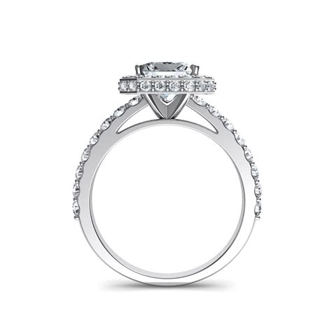 two sided micro pav 233 cathedral princess cut halo