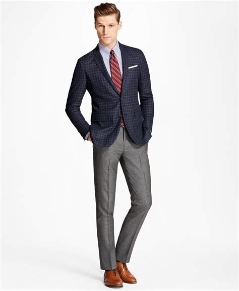 Vanaesa Prada Navy Fit L Cc lyst brothers fit check sport coat in blue for
