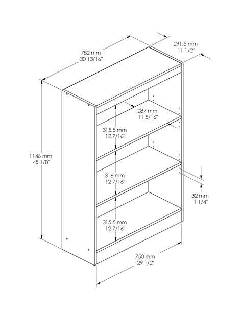 ikea billy bookcase measurements south shore axess 3 shelf bookcase by oj commerce 7250766c