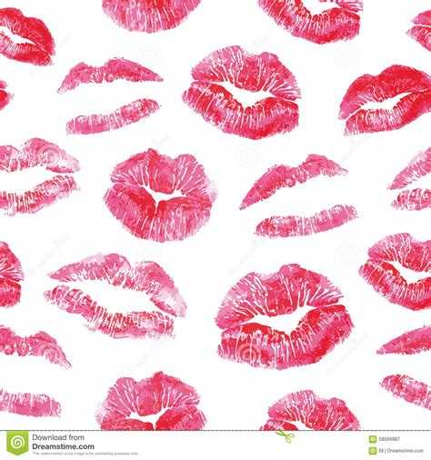kiss pattern photoshop seamless pattern red lips kisses prints stock vector