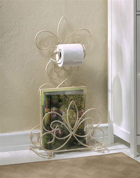 wholesale iron scrollwork fleur de lis bathroom rack home