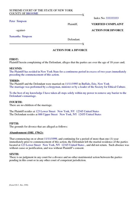 simple separation agreement template top 5 free formats of separation agreement templates