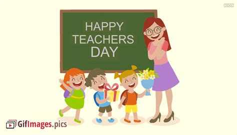 happy teachers day animated gif images cards