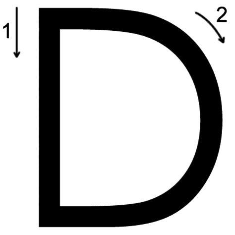 Letter D Images letter d printing worksheet both cases trace 3 print 3