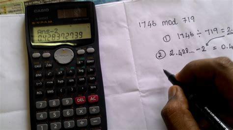 calculator modulo mod calculation using casio fx991 ms youtube