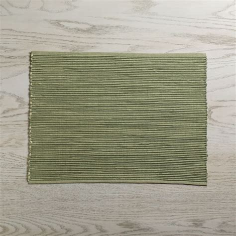 sonoma sage green placemat reviews crate barrel