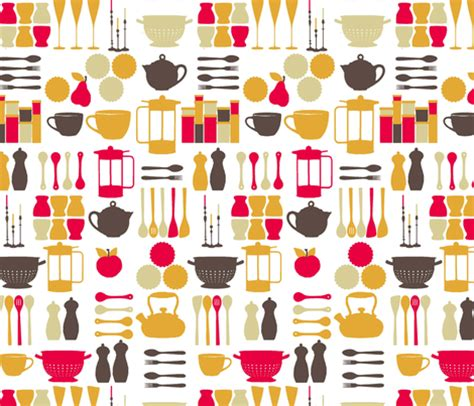 Kitchen Stuff by Kitchen Stuff Fabric Lfntextiles Spoonflower