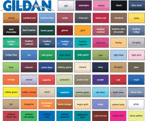 gildan t shirt color chart gildan t shirt color chart neiltortorella