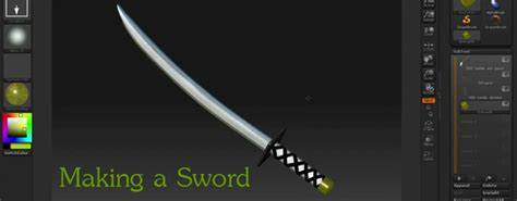 zbrush katana tutorial cgarena video tutorial making a sword