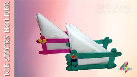 Tissue Paper Holder Diy Popsicle Ice Sticks Tissue Paper Holder Christmas