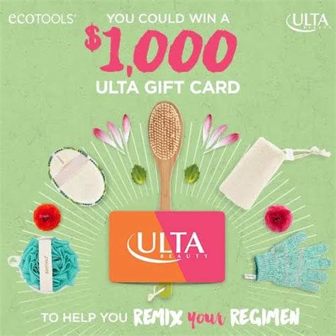 Win Ulta Gift Card - hot win 1 000 ulta gift card save on ecotools passion for savings