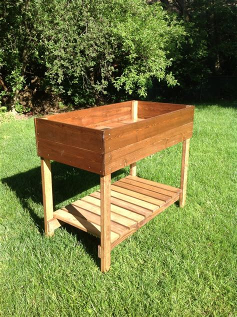 Raised Garden Table by Raised Garden Bed Table By Gingermadefurniture On Etsy
