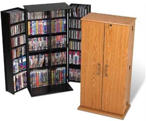 Vhs Storage Cabinet Prepac Medium Deluxe Cd Dvd Vhs Cabinet Vs 0205 Oak Or Black