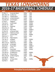 Ut Schedule Printable Basketball Schedule 2016 17