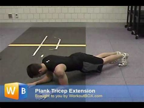 tricep exercise without weights
