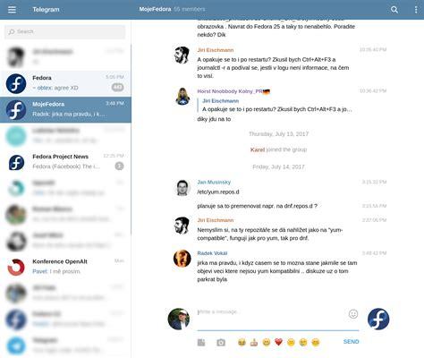 telegram web klienty telegramu pro fedoru mojefedora cz