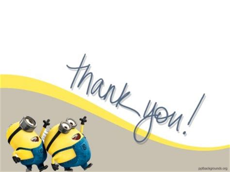 thank you animated templates for powerpoint minions free ppt backgrounds