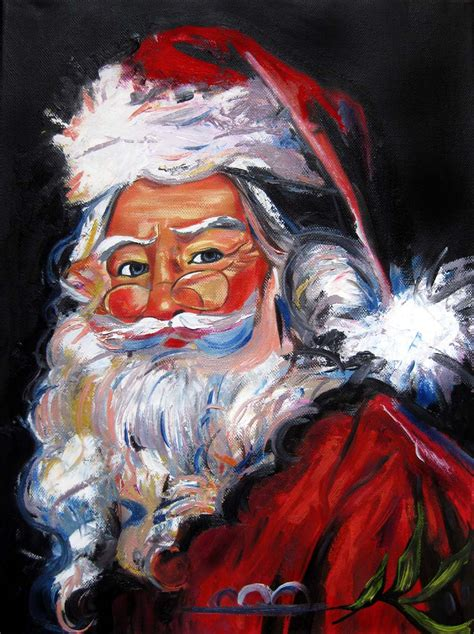 painting santa claus santa claus painting www imgkid the image kid has it